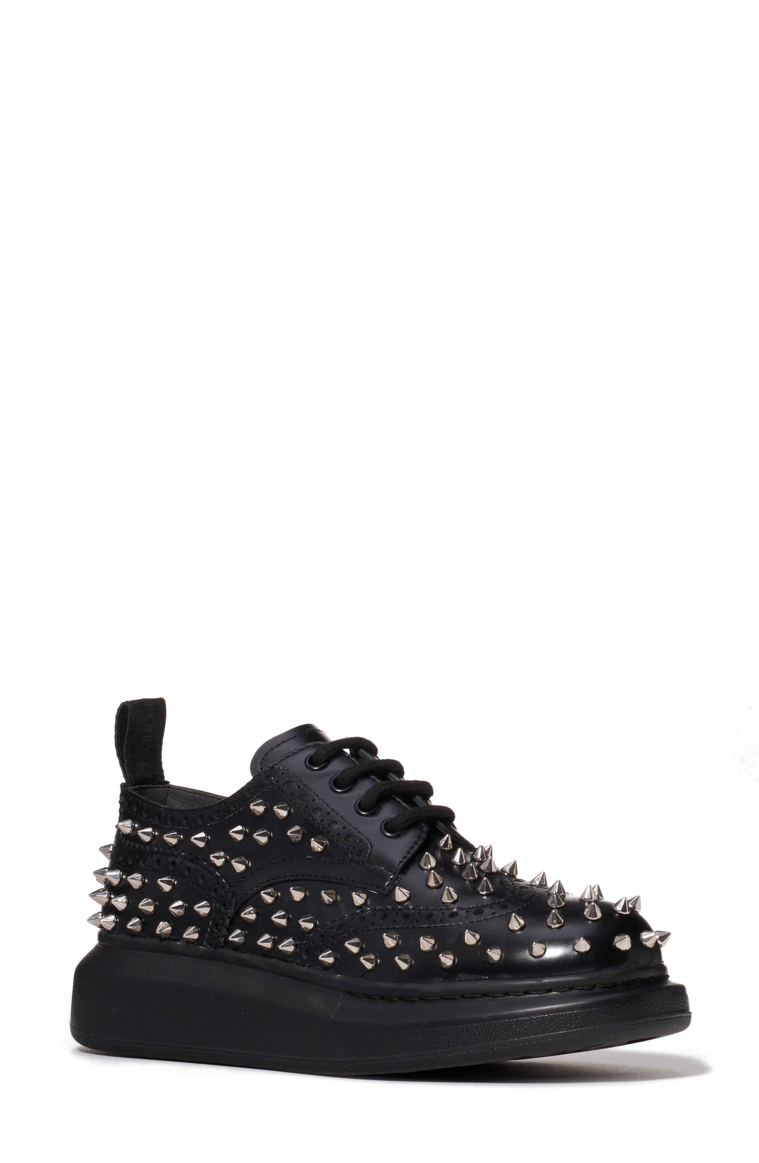 Alexander Mcqueen Studded Platform Sneaker, Black