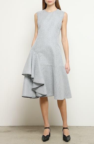Ruffle Hem Tweed Dress, video thumbnail