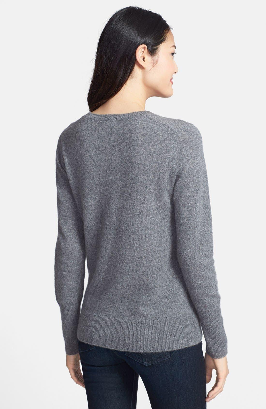 ,                             Cashmere V-Neck Sweater,                             Alternate thumbnail 10, color,                             030