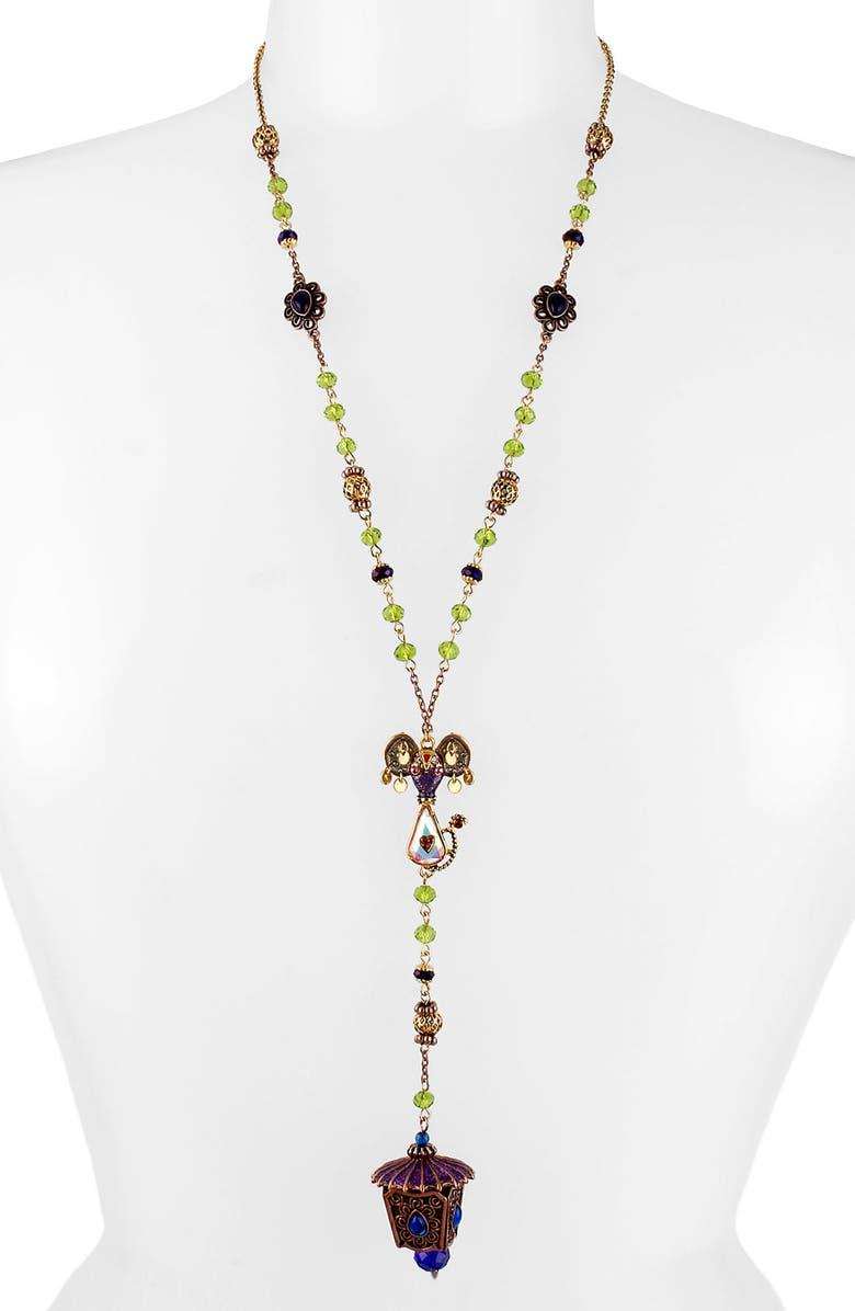 BETSEY JOHNSON 'Morocco Adventure' Long Y-Necklace, Main, color, LANTERN MULTI