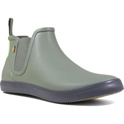 Bogs Kicker Chelsea Waterproof Rain Boot, Green