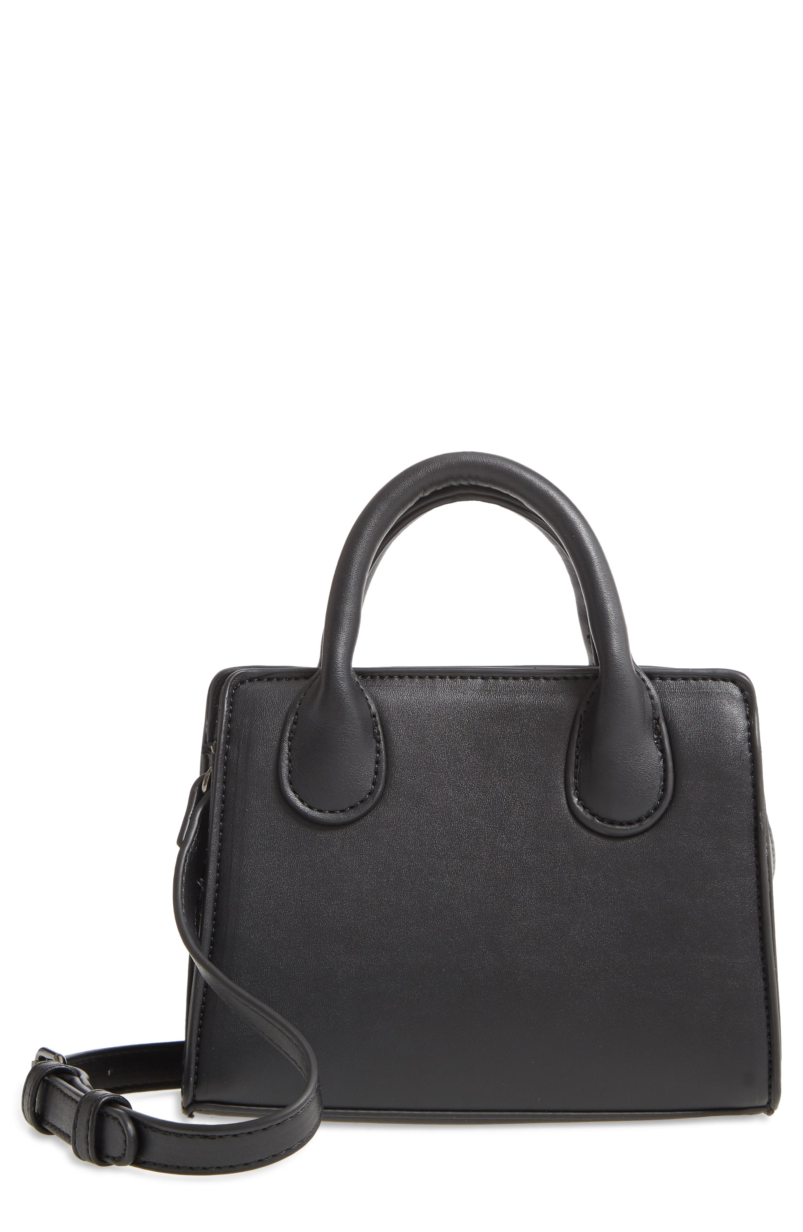 Faux Leather Structured Mini Crossbody