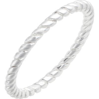 Argento Vivo Dainty Rope Ring