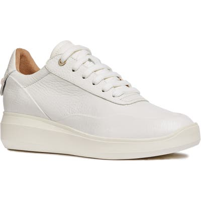 Geox Rubidia Wedge Sneaker, White