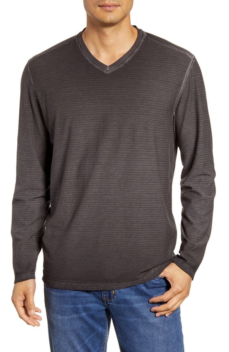 Tommy Bahama Cirrus Coast Classic Fit Long Sleeve V Neck T Shirt