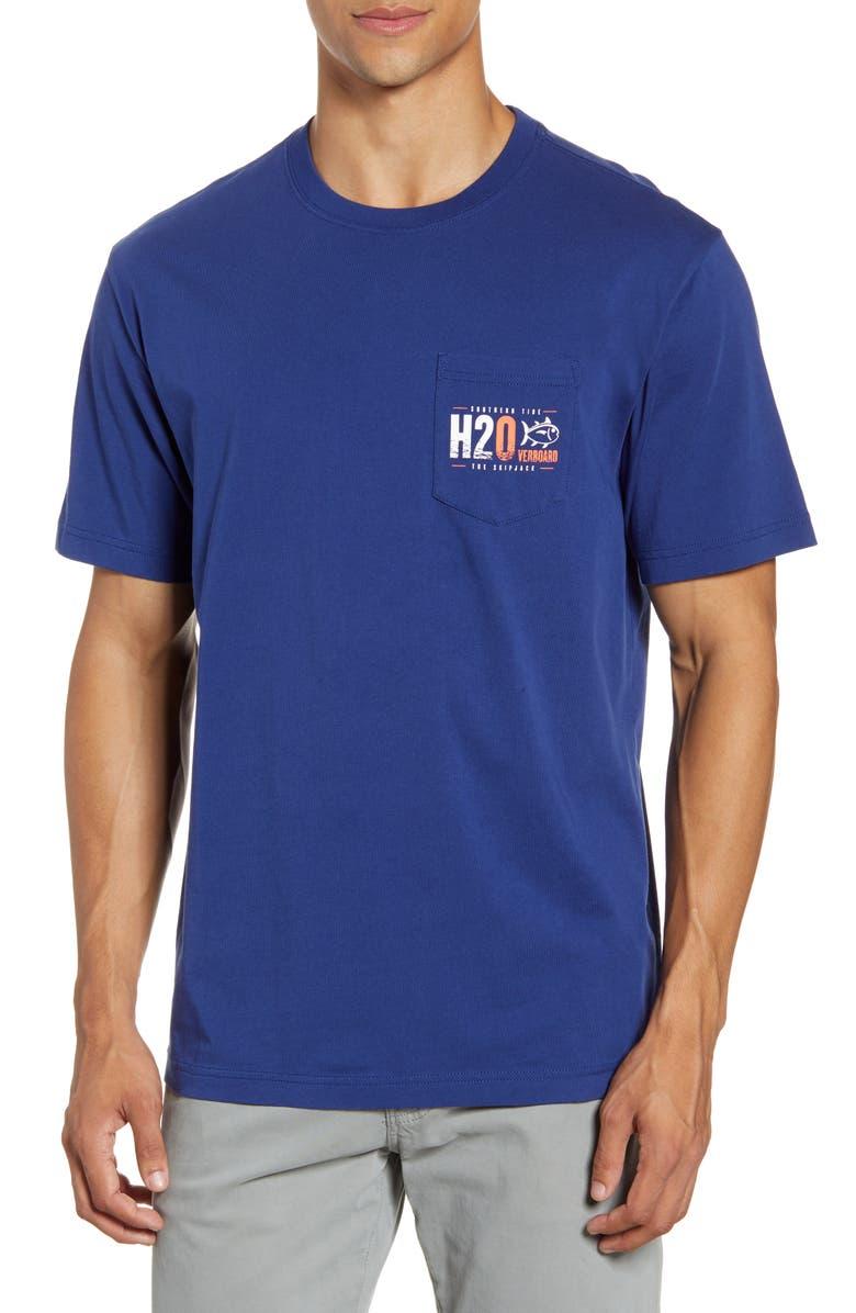 SOUTHERN TIDE H2Overboard Pocket T-Shirt, Main, color, 417