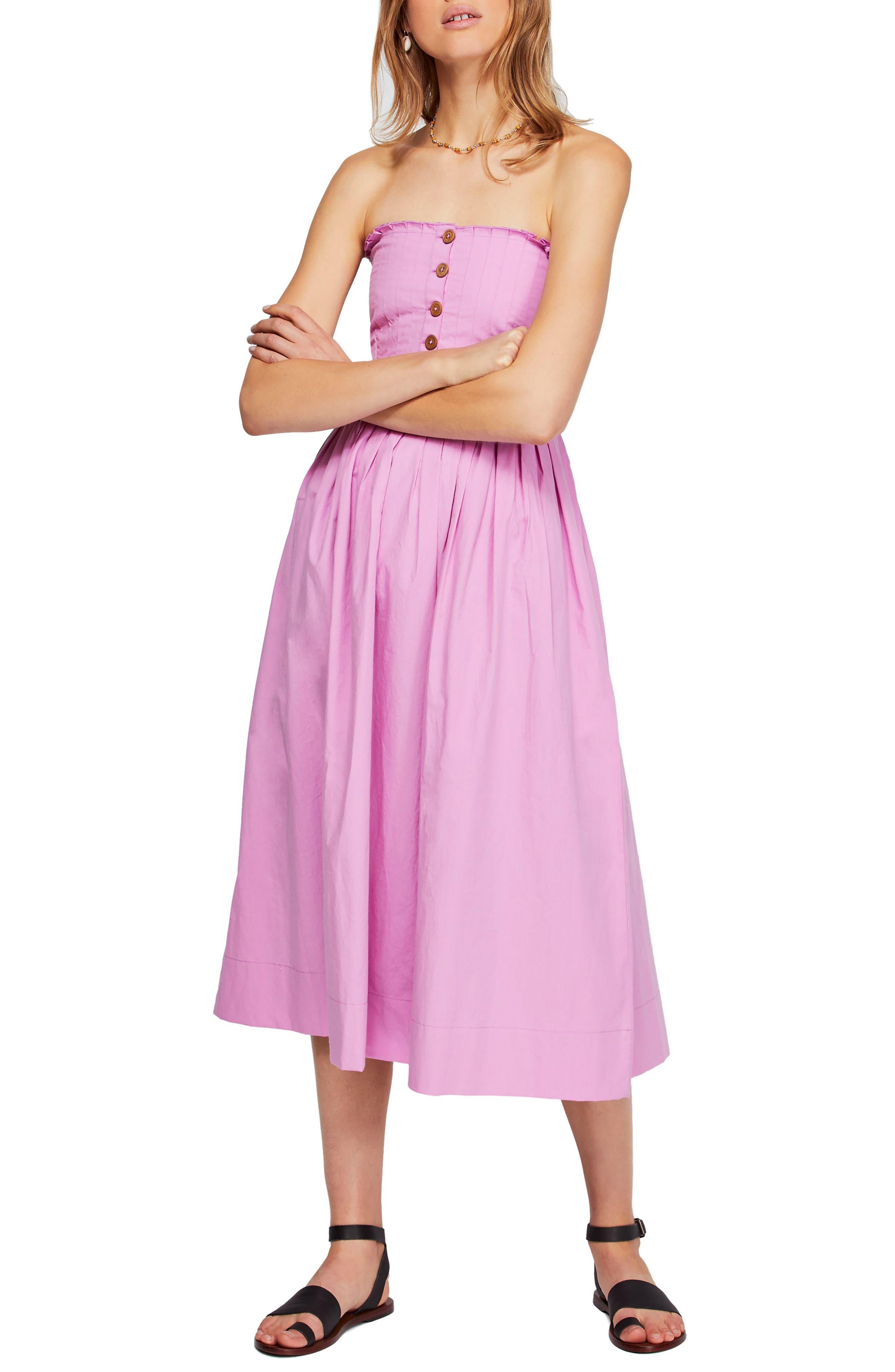 Free People Lilah Strapless Maxi Dress, Purple