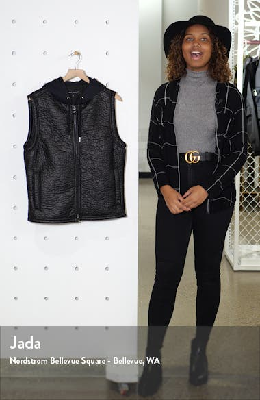 Timbercreek Hooded Faux Leather Zip-Up Vest, sales video thumbnail
