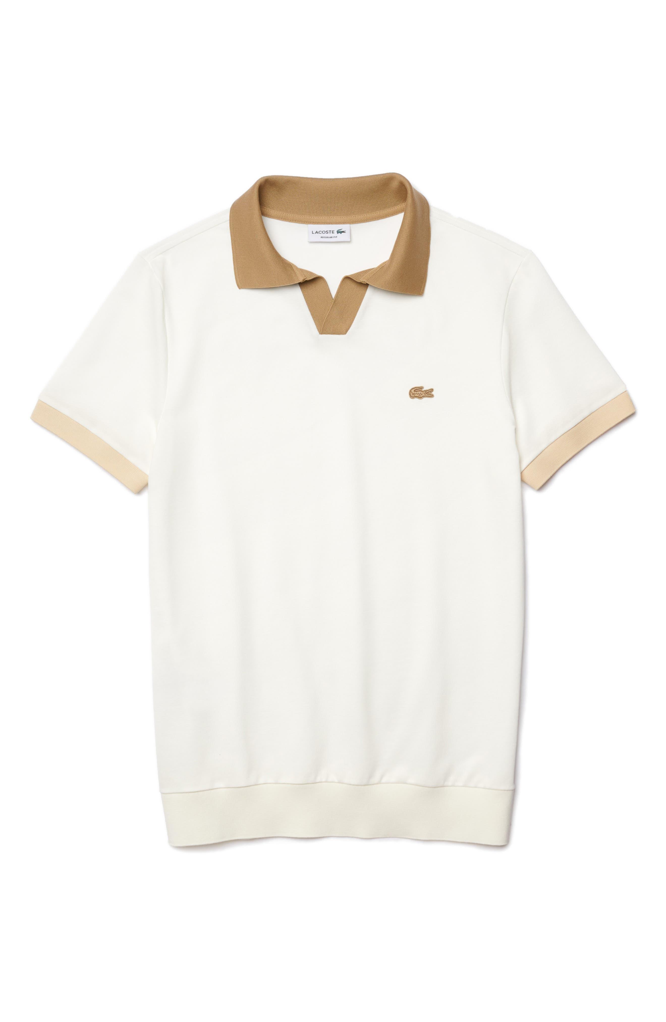 1930s Mens Shirts | Dress Shirts, Polo Shirts, Work Shirts Mens Lacoste Johnny Collar Pique Polo Size 3 - Blue $135.00 AT vintagedancer.com
