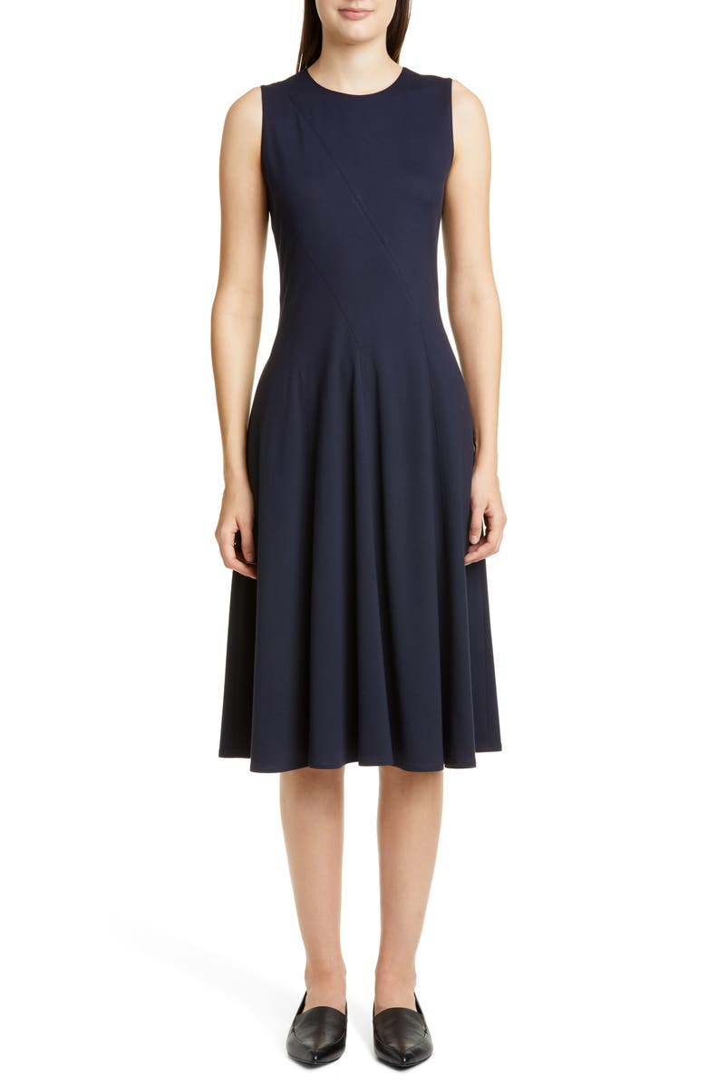 LAFAYETTE 148 NEW YORK Topenga Fit & Flare Dress, Main, color, INK