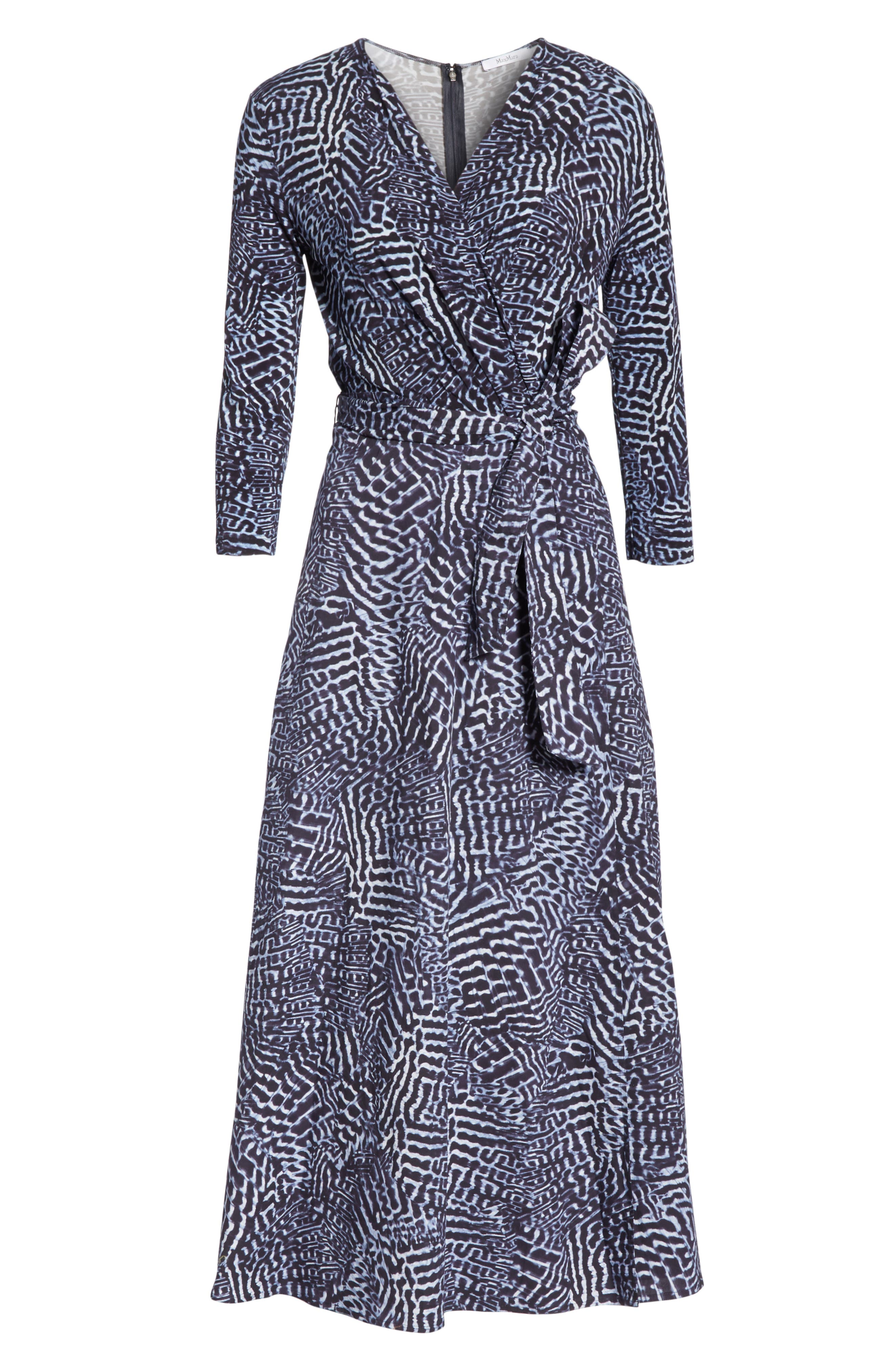 ,                             Acume Print Faux Wrap Dress,                             Alternate thumbnail 7, color,                             CORNFLOWER BLUE