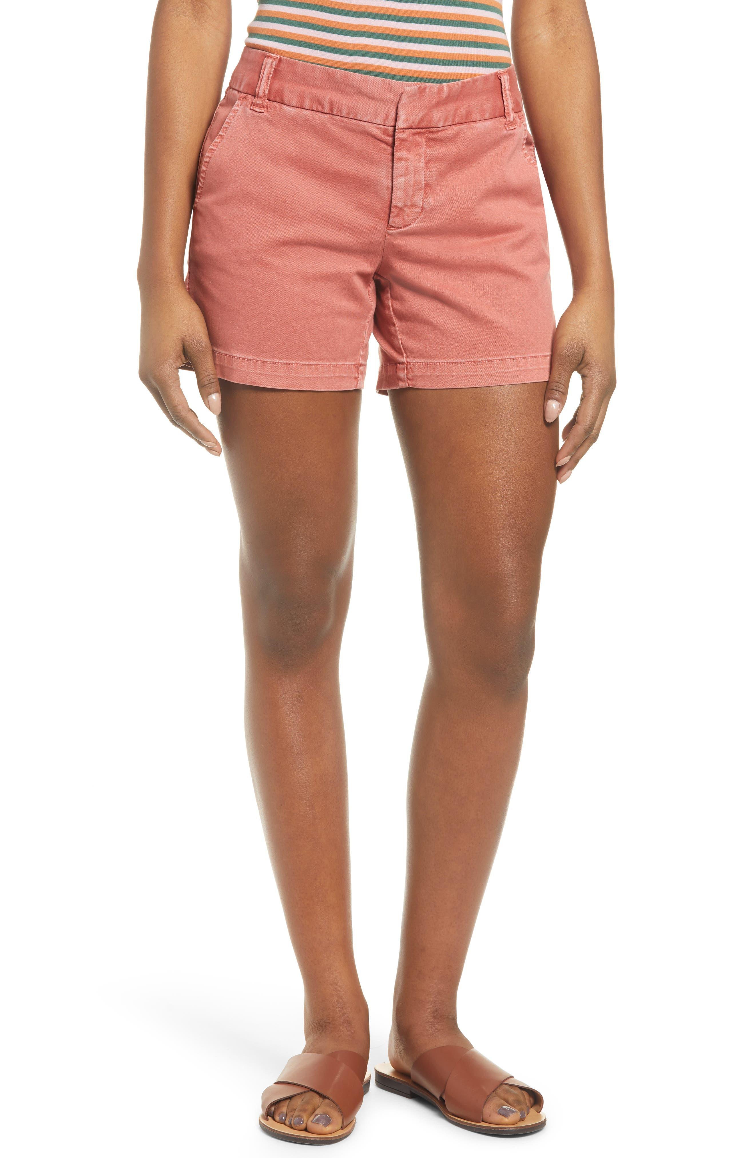 CaslonR Women's Caslon Cotton Twill Shorts,  18 - Pink