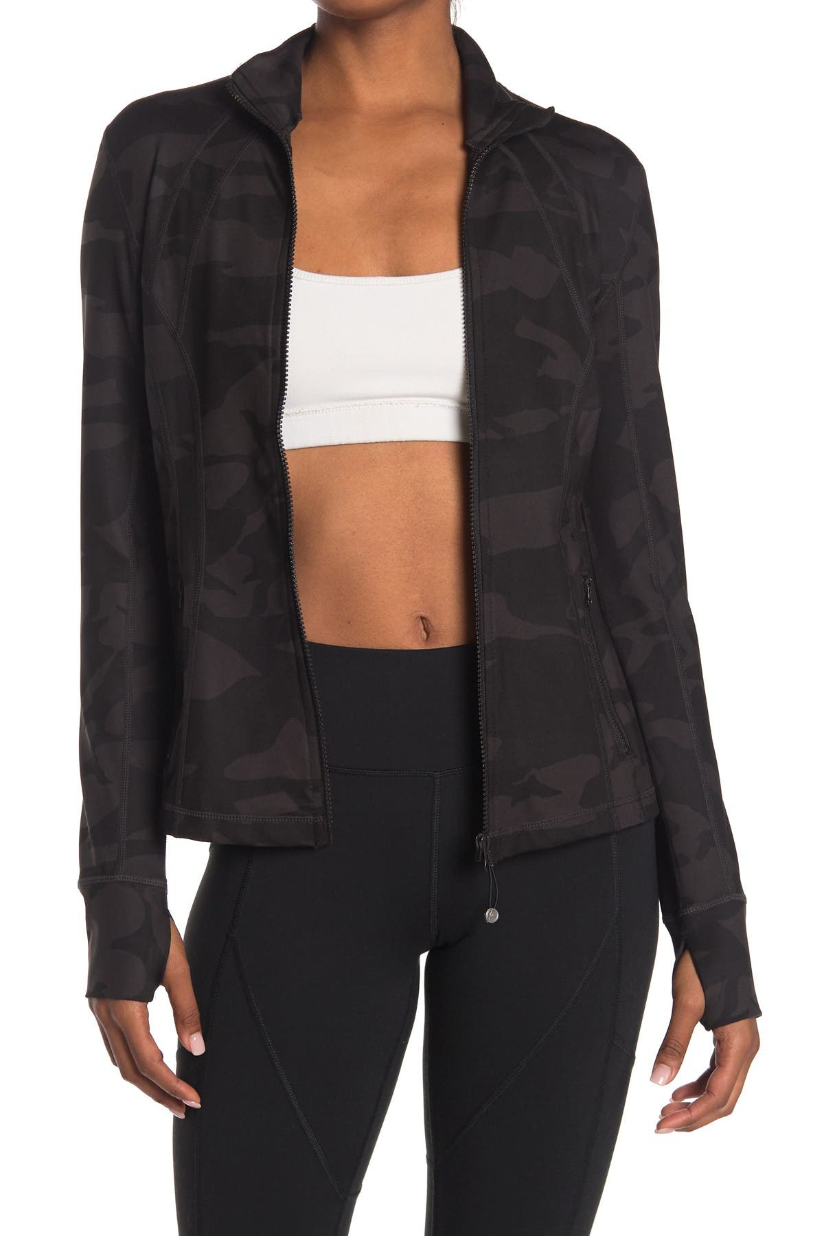 Image of 90 Degree By Reflex Lux Printed Full-Zip Jacket