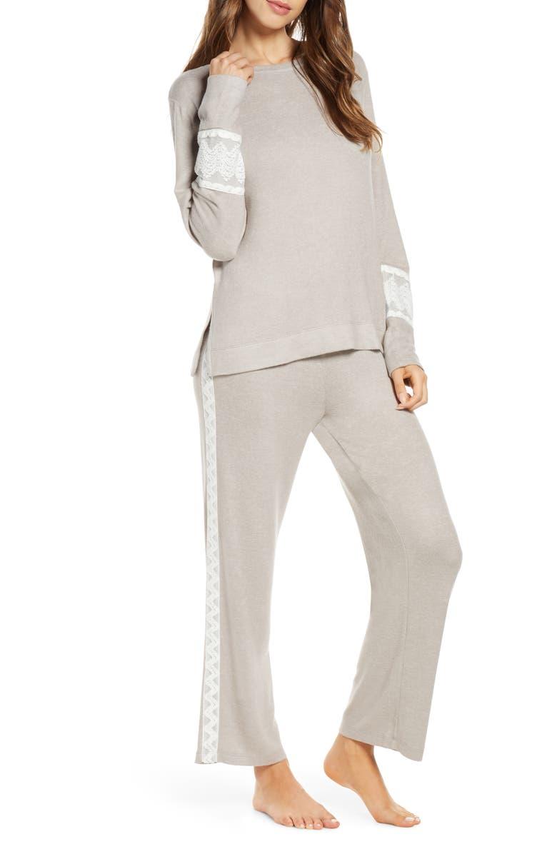 FLORA NIKROOZ Amabel Pajamas, Main, color, GRAY