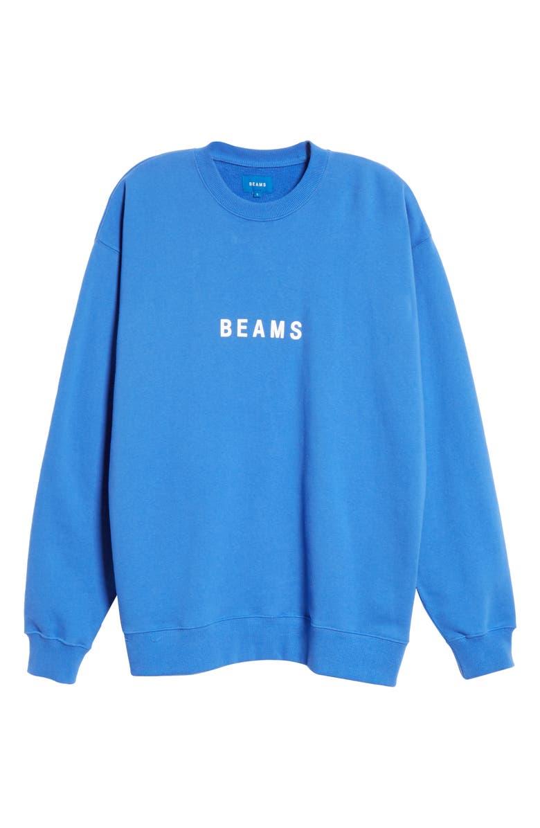 BEAMS Logo Cotton Sweatshirt, Main, color, 400