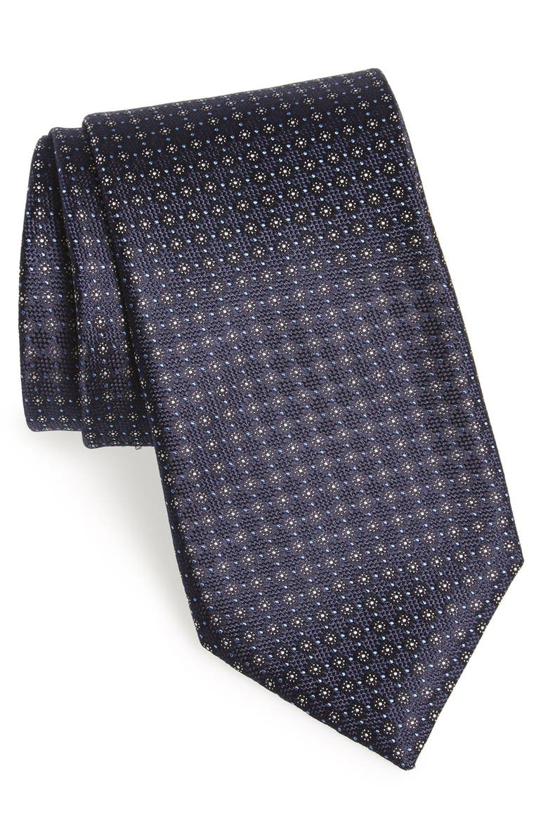 CANALI Dot Silk Tie, Main, color, 001