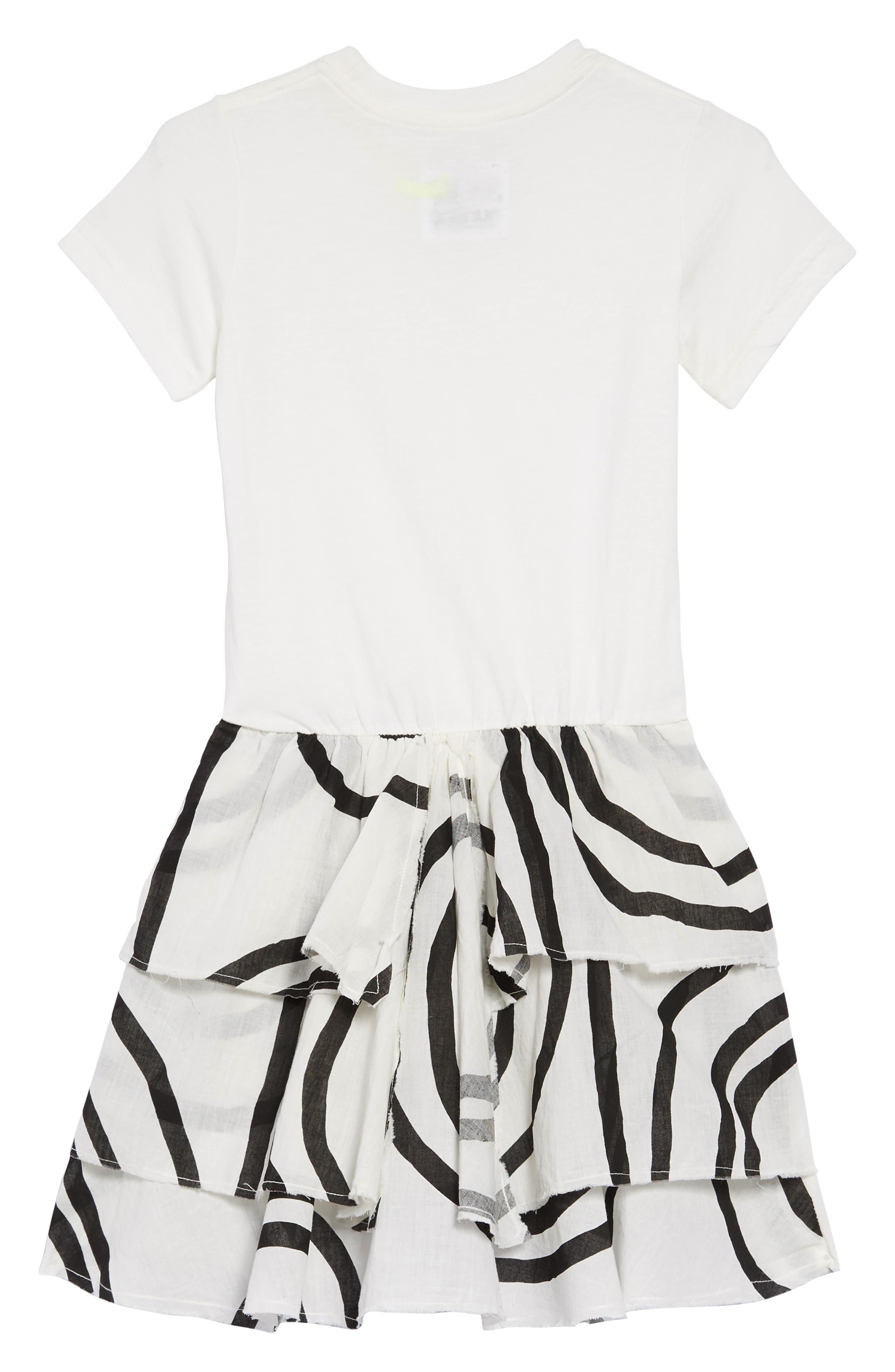 ,                             Layered Circle Dress,                             Alternate thumbnail 2, color,                             WHITE