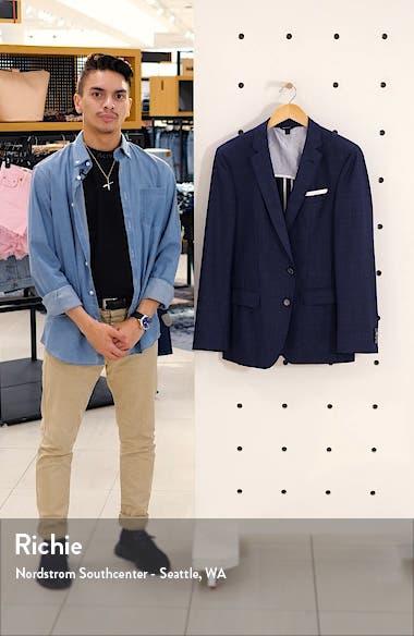 Hartlay Trim Fit Check Wool Sport Coat, sales video thumbnail