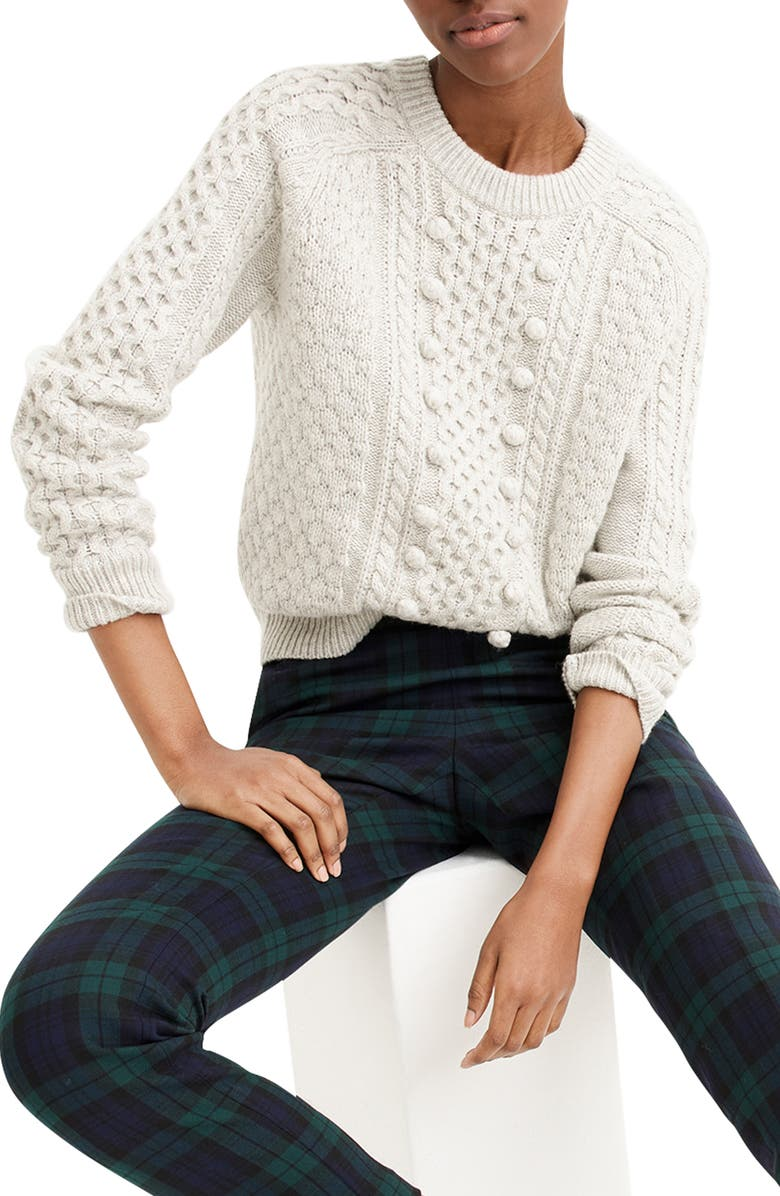 2f50ada9f86 J.Crew Popcorn Cable Knit Sweater (Regular & Plus Size) | Nordstrom