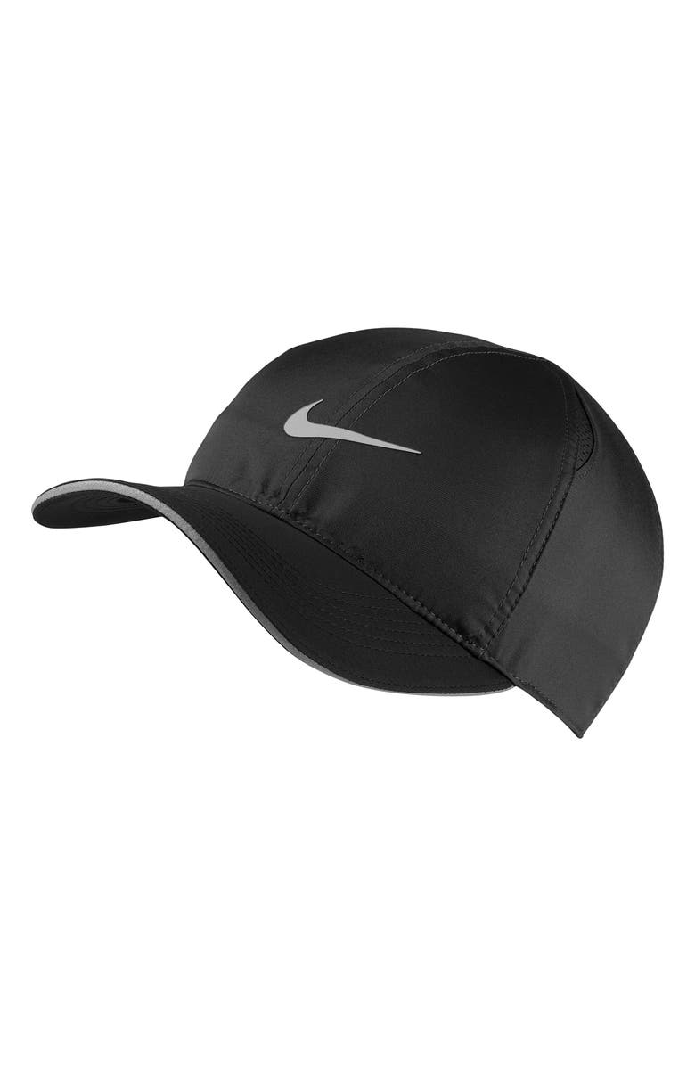 NIKE Featherlight Run Cap, Main, color, BLACK