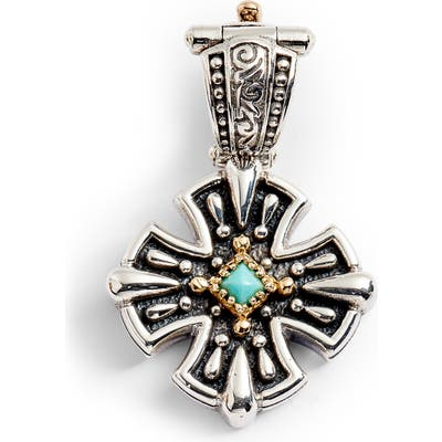 Konstantino Trillion Small Stone Cross Pendant