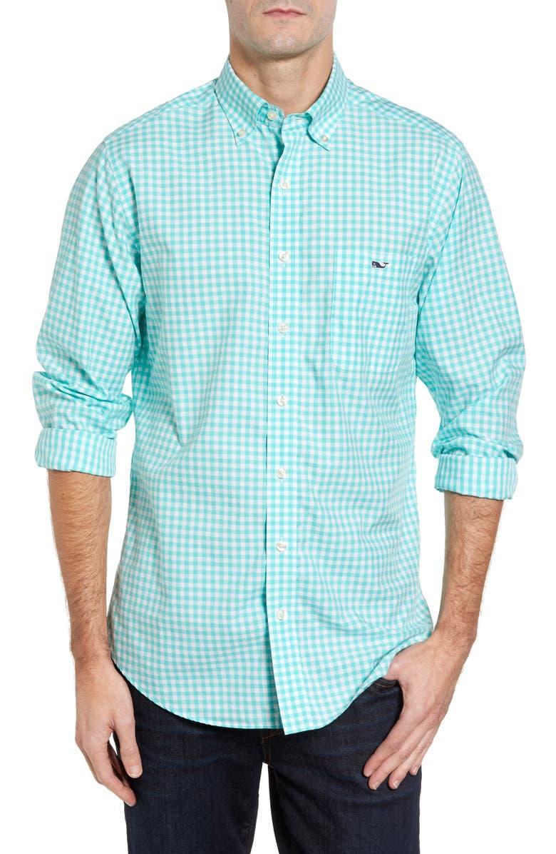VINEYARD VINES Elmont Gingham Sport Shirt, Main, color, 300