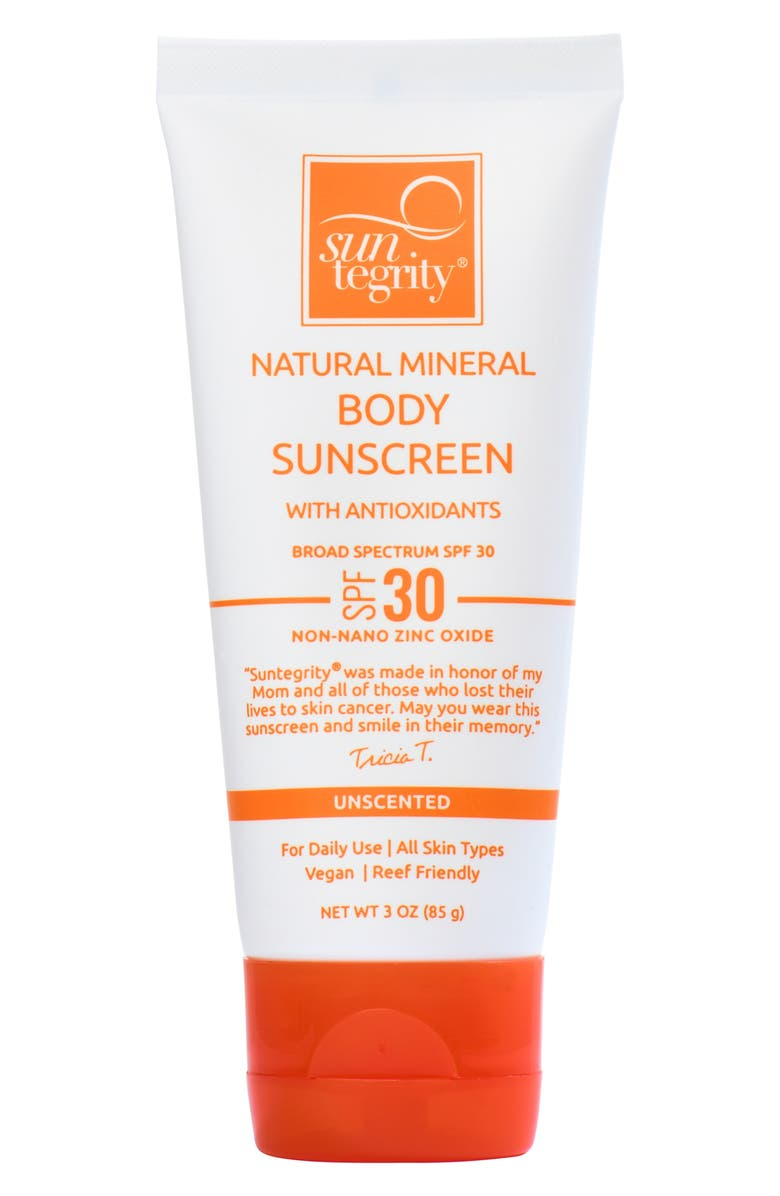 SUNTEGRITY Unscented Natural Mineral Sunscreen for Body Broad Spectrum SPF 30, Main, color, NO COLOR
