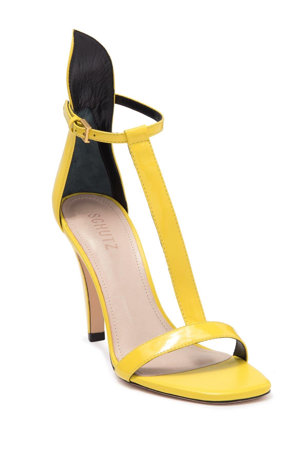 Image of Schutz Gwenyth Leather T-Strap Sandal