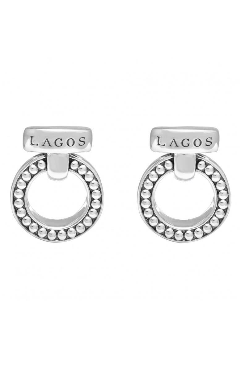 LAGOS 'Enso' Caviar<sup>™</sup> Clip Earrings, Main, color, SILVER