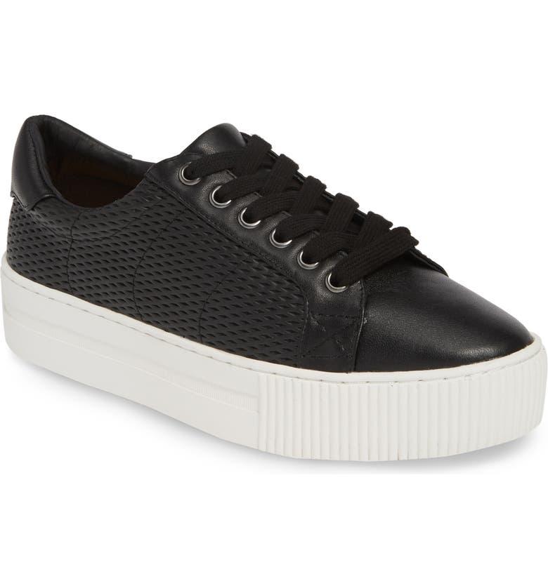 HALOGEN<SUP>®</SUP> Bethany Platform Genuine Calf Hair Sneaker, Main, color, 001
