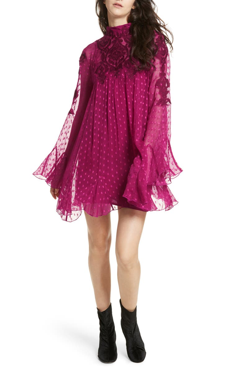 FREE PEOPLE Embroidered Minidress, Main, color, 624