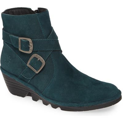 Fly London Perz Wedge Bootie - Blue