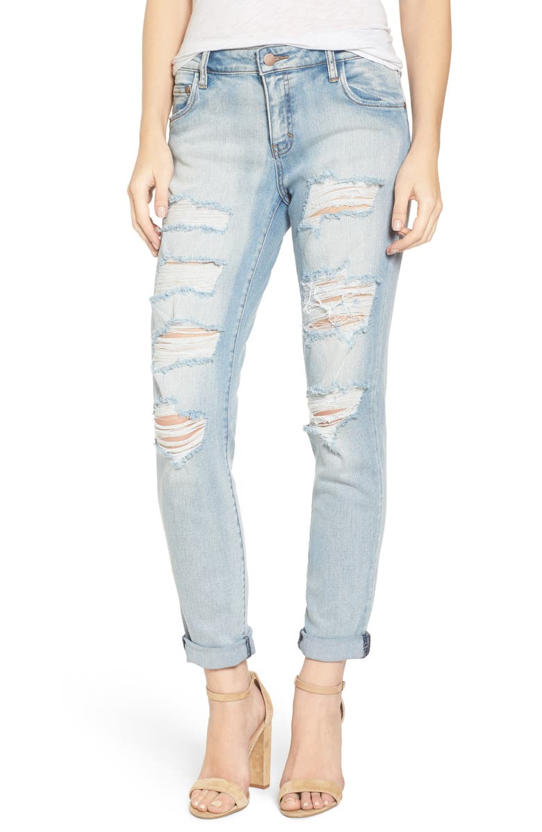 BP. Ripped Skinny Boyfriend Jeans, Main, color, MISSION BAY