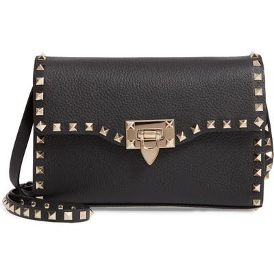 Valentino Garavani Medium Rockstud Leather Crossbody Bag - Black