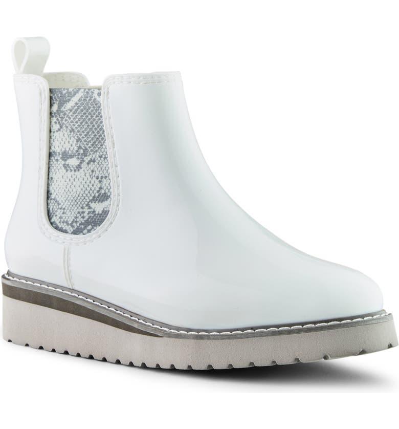 COUGAR Kensington Chelsea Rain Boot, Main, color, WHITE RUBBER