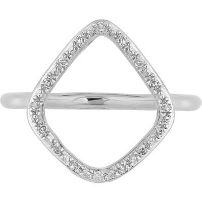 Monica Vinader Riva Diamond Hoop Ring