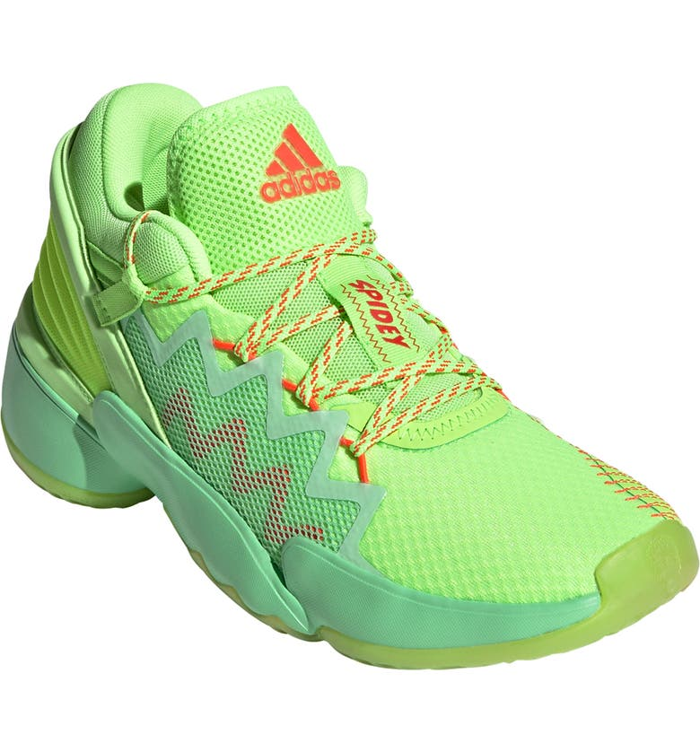 ADIDAS Kids' D.O.N. Issue #2 Basketball Shoe, Main, color, GLORY MINT/SIGNAL GREEN