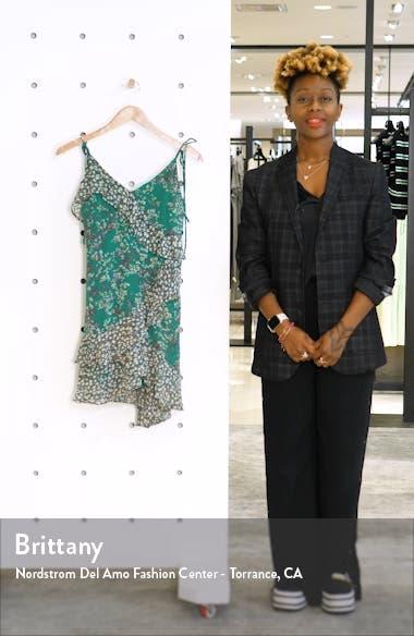 Mix Print Tie Shoulder Sundress, sales video thumbnail