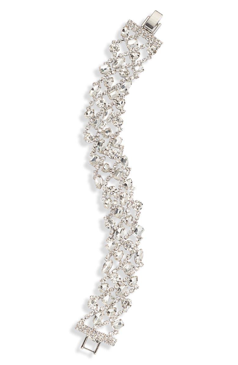 CRISTABELLE Mix Crystal Line Bracelet, Main, color, 040