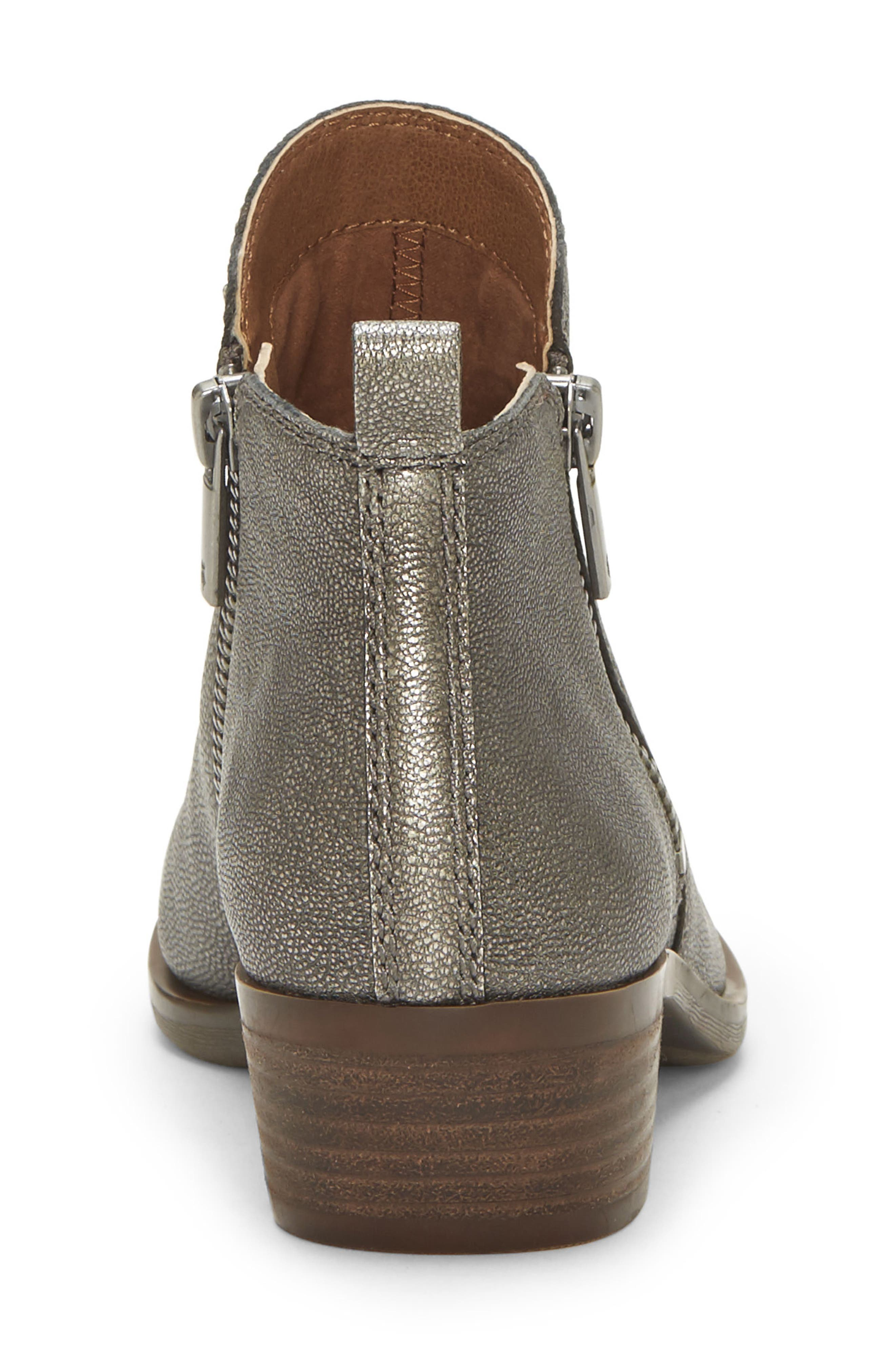 ,                             Basel Bootie,                             Alternate thumbnail 5, color,                             PEWTER SUEDE