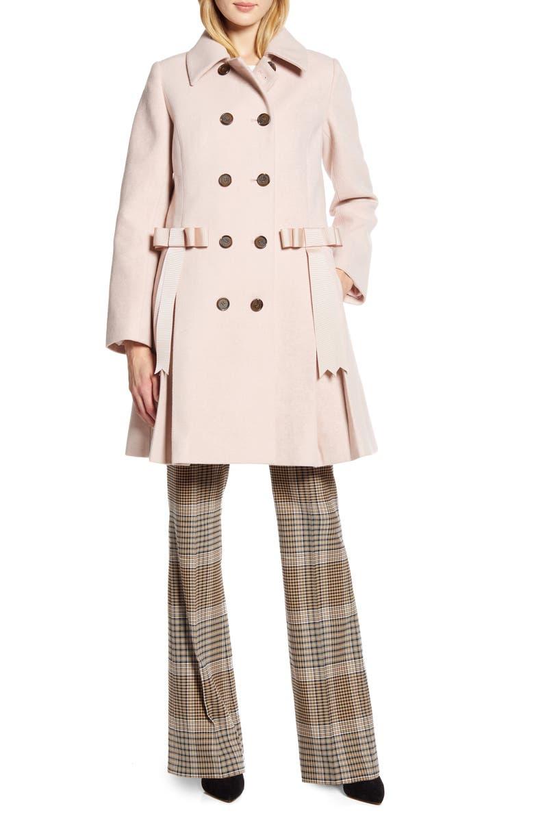 HALOGEN<SUP>®</SUP> x Atlantic-Pacific Bow Detail Coat, Main, color, PINK SMOKE