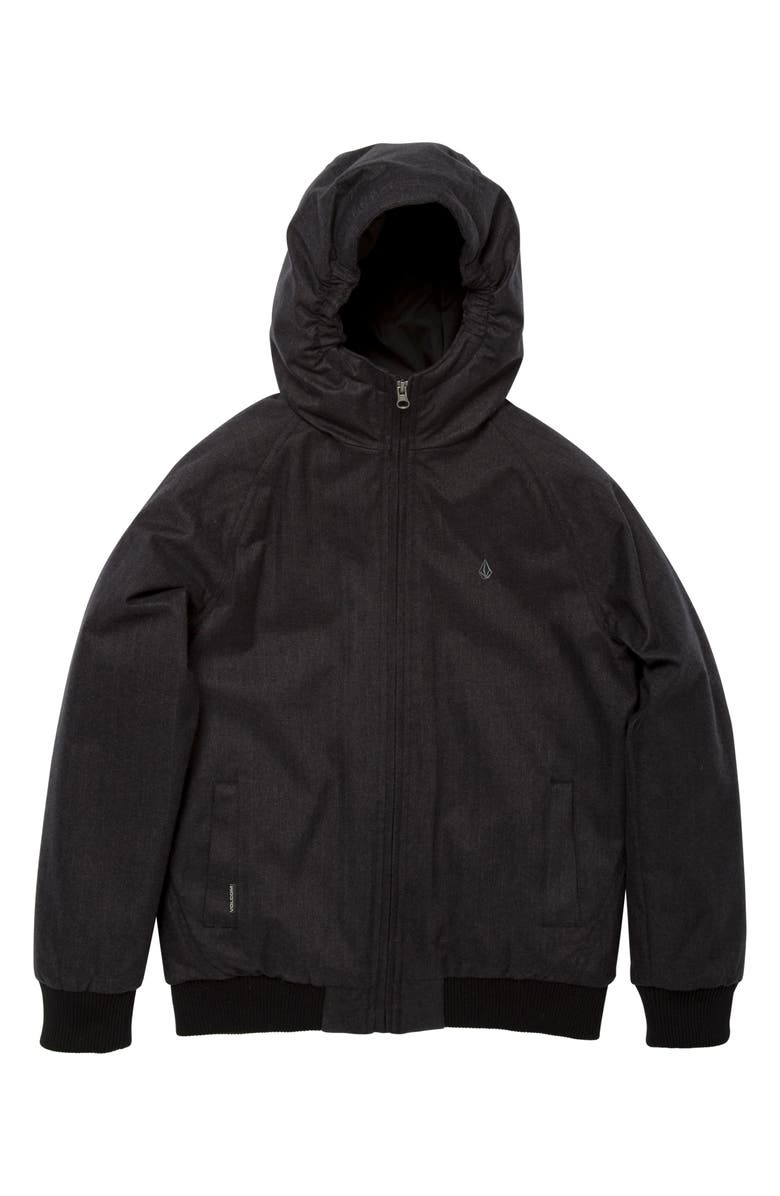 VOLCOM Hernan Coaster 5K Hooded Jacket, Main, color, BLACK