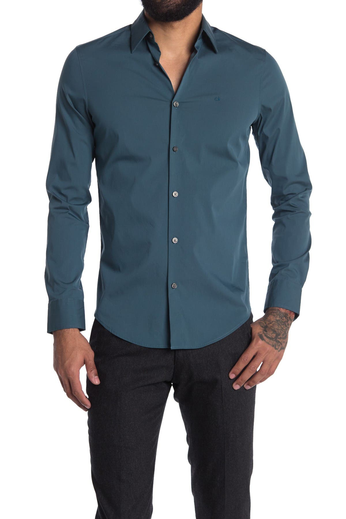 Image of Calvin Klein Stretch Cotton Sport Shirt