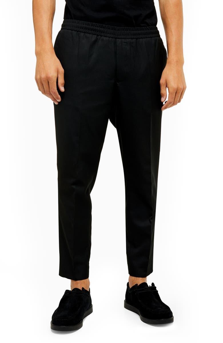 TOPMAN Wiley Slim Fit Pants, Main, color, 001