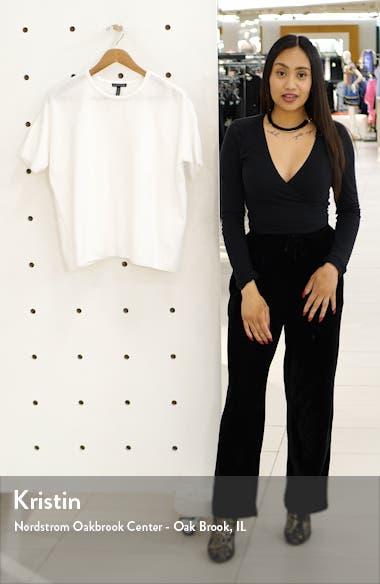 Short Sleeve Cotton Chenille Sweater, sales video thumbnail