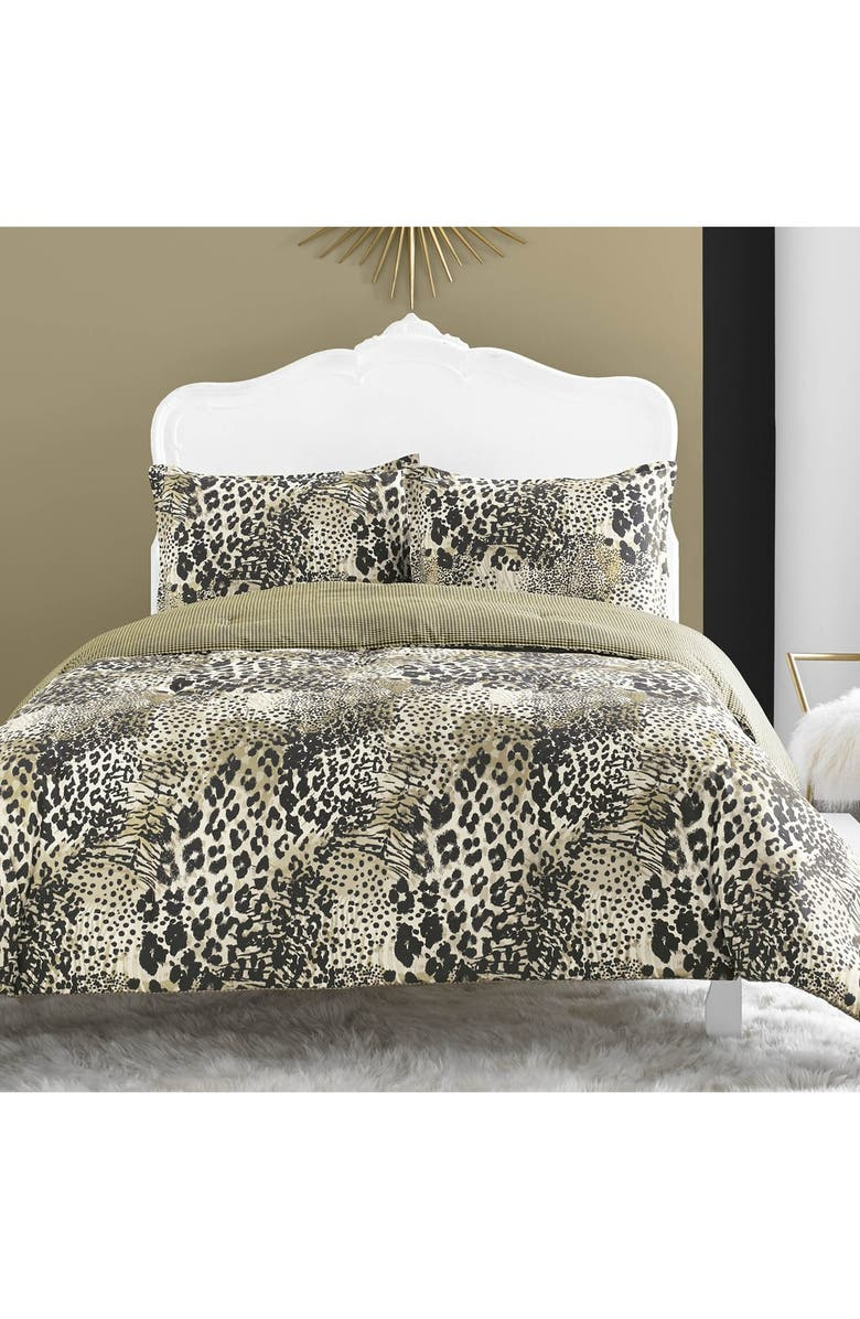BETSEY JOHNSON BEDDING 'Wild Thing' Comforter Set, Main, color, 001