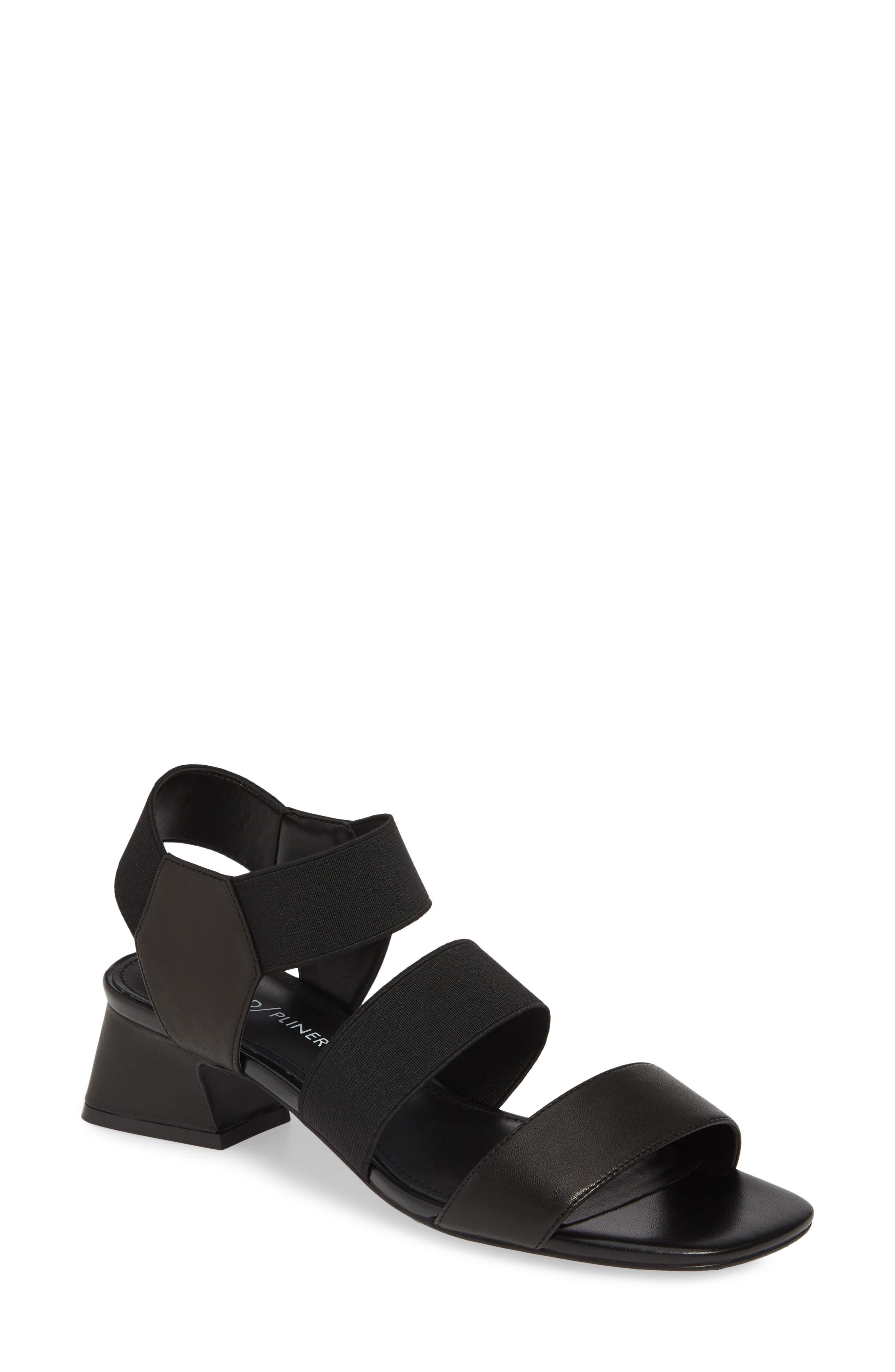 ,                             Britini Sandal,                             Main thumbnail 1, color,                             BLACK LEATHER/ FABRIC