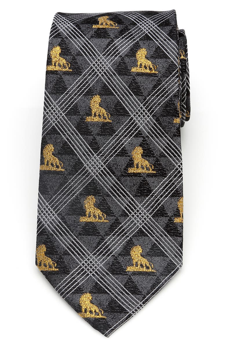CUFFLINKS, INC. Lion King Pose Silk Tie, Main, color, BLACK