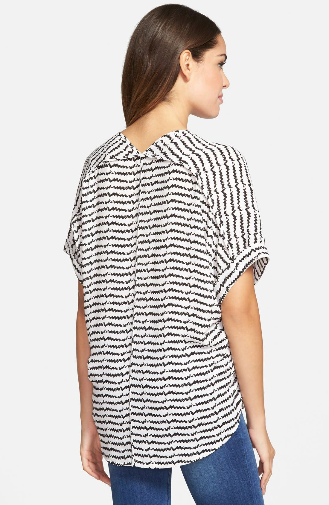 ,                             Lush Cuff Sleeve Woven Tee,                             Alternate thumbnail 190, color,                             903