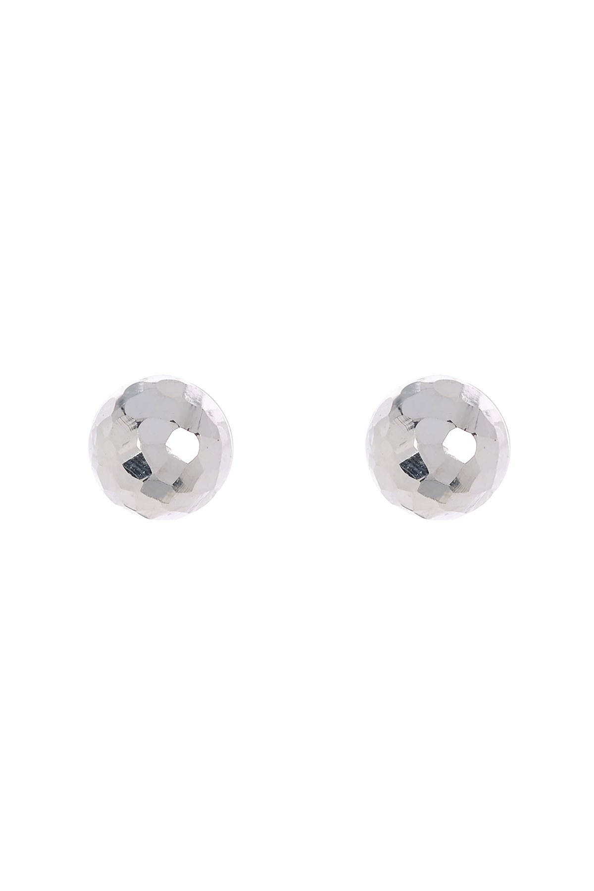 Image of Bony Levy 14K White Gold Textured Dome Stud Earrings